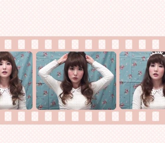 【簡単ヘアアレンジ動画】たった3分、ヘアピン4本で「ネコ耳風ハーフアップ」