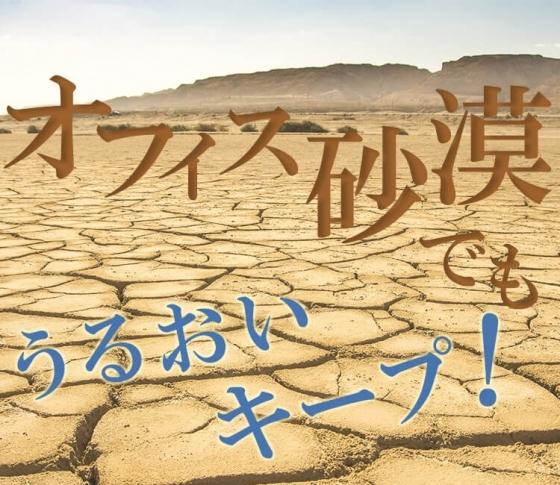 オフィス砂漠でうるおいをキープする4つの乾燥対策テク