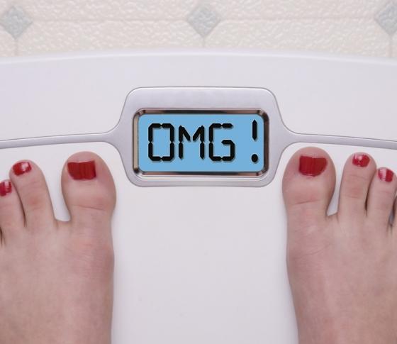 太ってしまう女