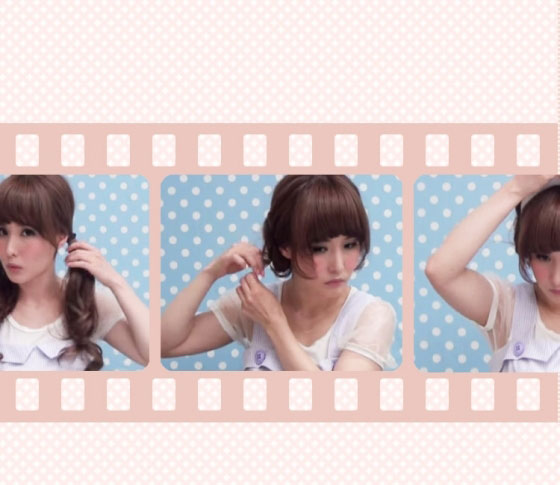 VBR・ミヤマリのヘアアレンジ動画 06「もこもこ羊ヘア」