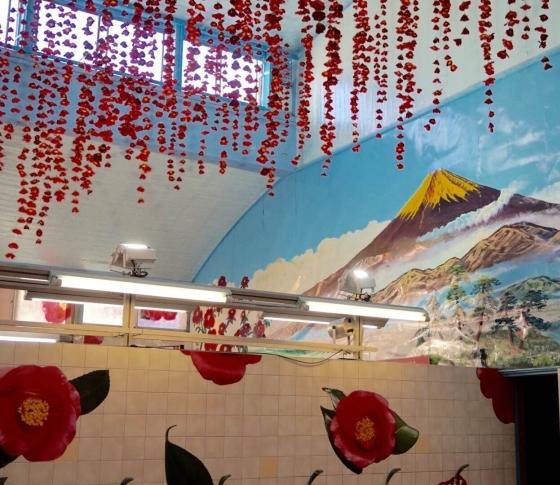 ツバキの花が咲き誇る! TSUBAKI湯が押上に限定オープン!