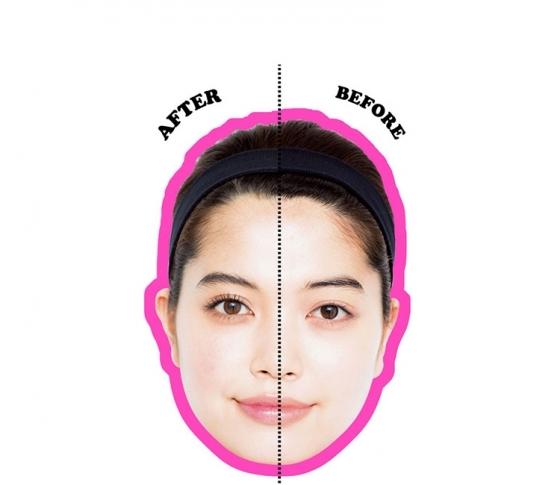 ナチュラルなのに顔面積3割減! 整形級メイクで超小顔
