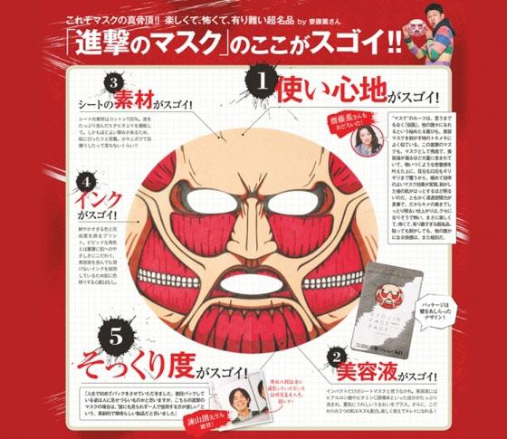 世界にひとつ! VOCE付録「進撃マスク」のここがスゴイ!