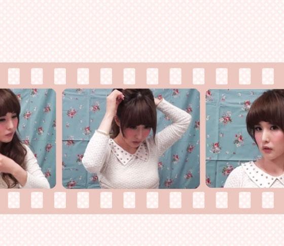 VBR・ミヤマリのヘアアレンジ動画「ふわふわポニーテール」