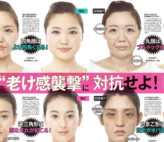 丸顔、たまご型…。顔型別に老け顔予防の対策は違う!