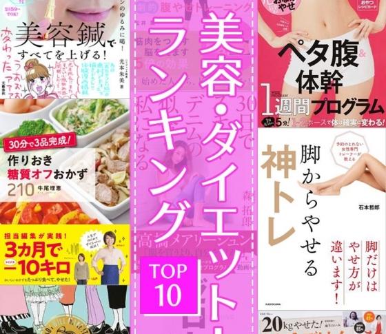 【速報】読めば痩せる!?|美容・ダイエット本売れ筋ランキング【TOP10】