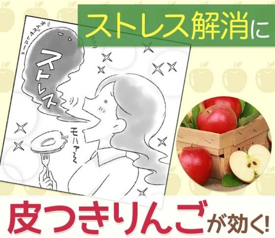 【心と体のストレスに効く】りんごは皮ごと食べるのがオススメ!