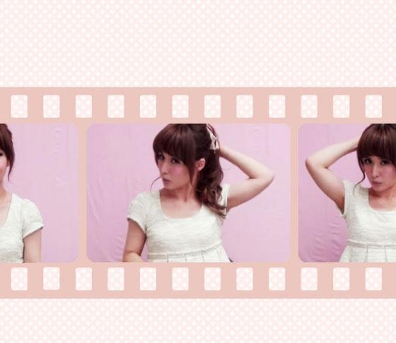 VBR・ミヤマリのヘアアレンジ動画 07「バナナクリップポニー」