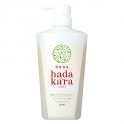 hadakara ボディソープ 保湿+サラサラ仕上がりタイプ グリーンフルーティの香り