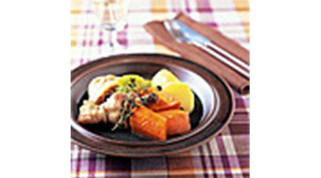 にんじんと鶏のハーブ蒸し煮