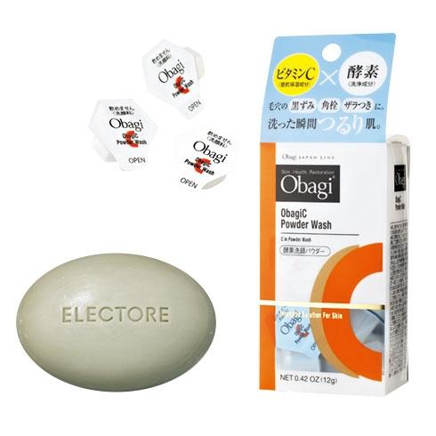エレクトーレ ミネラルオーレ ソープ/オバジC 酵素洗顔パウダー