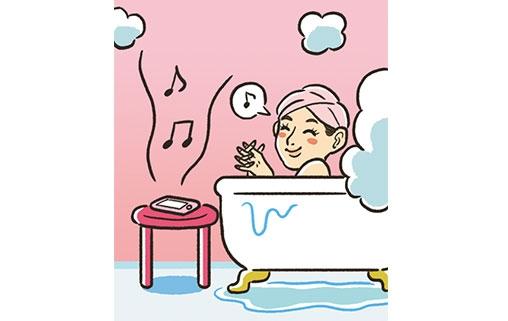 音楽を聴きながら入浴