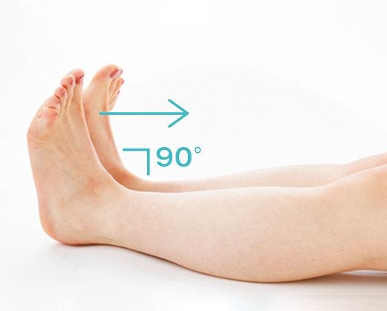 足首を直角に曲げられる?