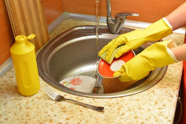 食器洗い,手荒れ,ゴム手袋