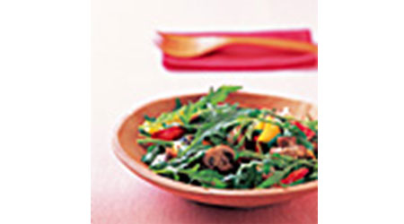 マッシュルームのカラフルサラダ
