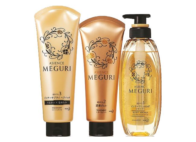 ASIENSE MEGURI インナークレンジングシャンプー,ベルガモット&ネロリの香り, ASIENSE MEGURI 濃密ジュレ,ASIENSE MEGURI インナーサプライヘアパック うるおい感のある ツヤやかな仕上がり