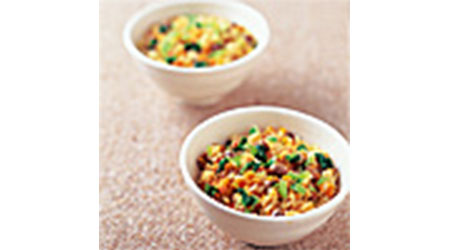 にんじんと豆のご飯