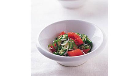 トマトとオクラの和え物