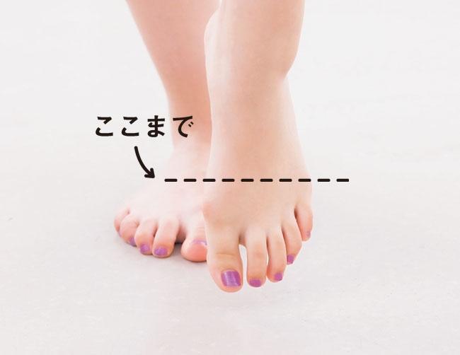 足の冷えが気になる人、汗をかきにくい人は、途中で3回くらい足先を冷水につけて