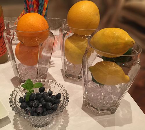 オレンジ,グレープフルーツ,レモン,ライム,ブルーベリー