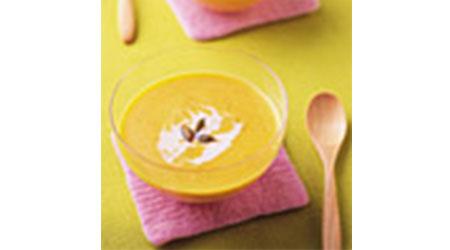 かぼちゃと豆乳の和風冷製スープ