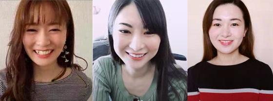 新田玲奈さん、繭さん、齊藤 彩さん