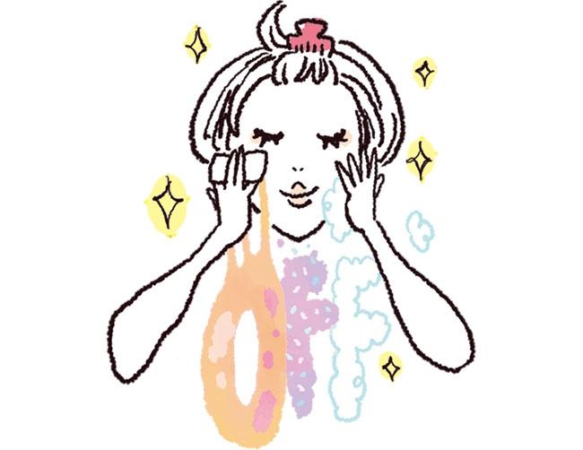 洗顔 イラスト