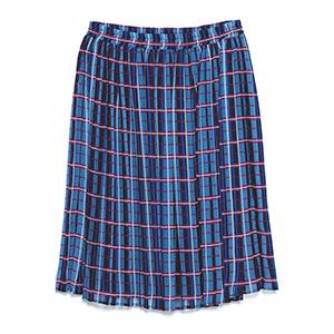ブルーチェックプリーツスカート