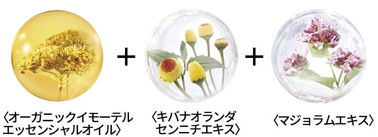 3つの植物の力で肌ストレスにアプローチ