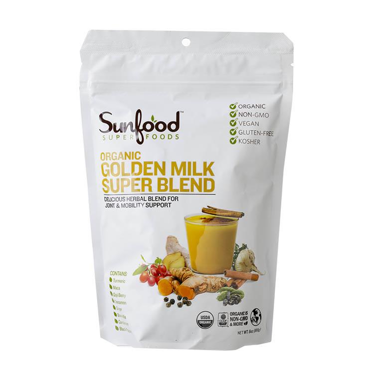 Sunfood オーガニック ゴールデンミルク スーパーブレンド