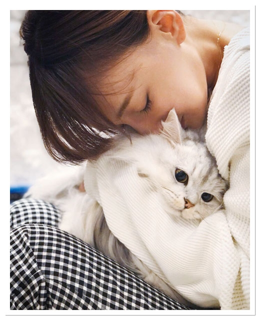 わたなべ麻衣さんと猫のりょうちゃん