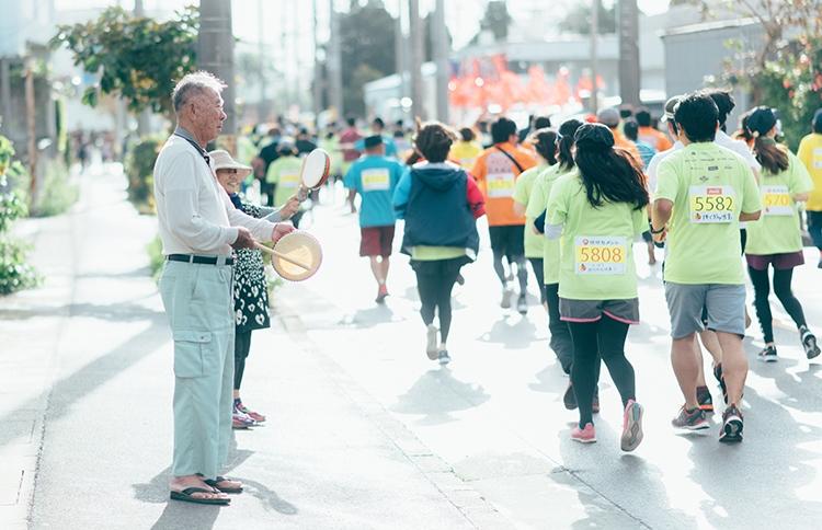 沿道からの声援のパワー