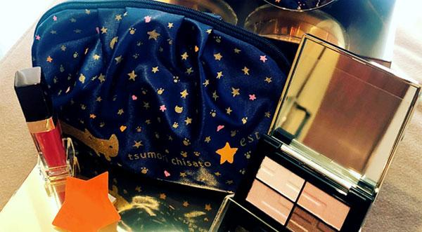 est,エスト,ルージュ&シャドウのクリスマスコフレ tsumori chisato 限定デザインポーチ付き