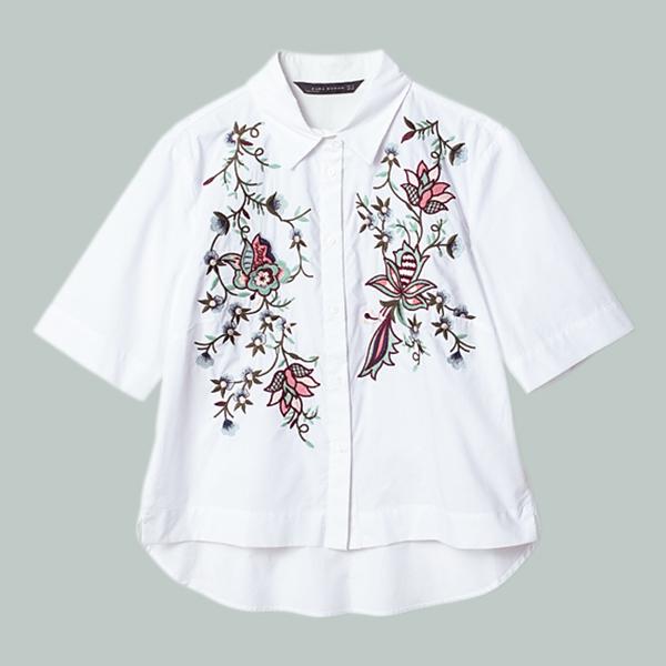 ししゅうシャツ ¥5546/ザラ・ジャパン カスタマーサービス(ザラ)