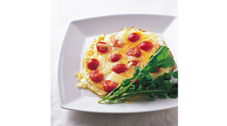 プチトマトのチーズオムレツ