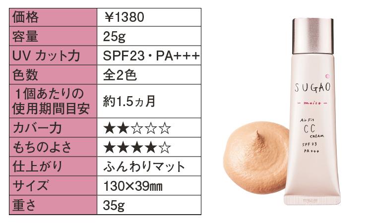 SUGAO AirFit CCクリーム モイスト