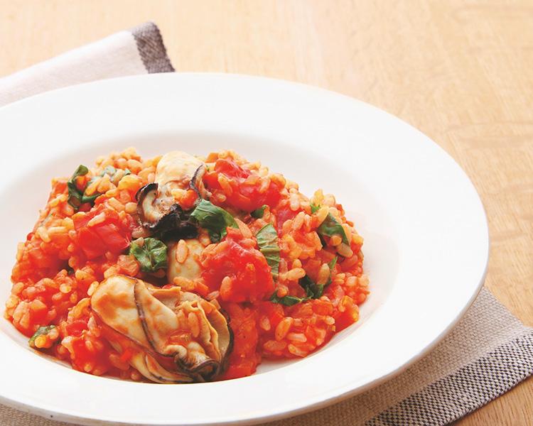 VOCE2月号,牡蠣と野菜の玄米リゾット