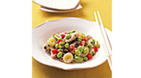 枝豆の高菜炒め
