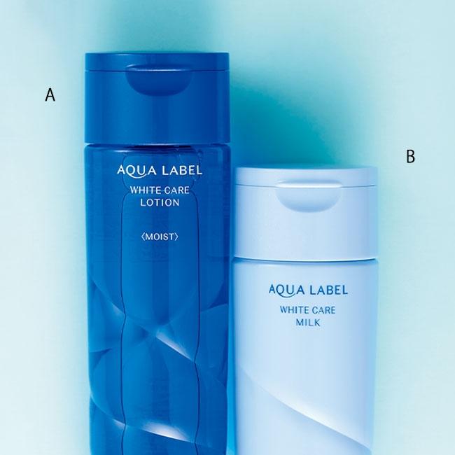 アクアレーベル ホワイトケア ローション M、アクアレーベル ホワイトケア ミルク