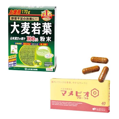 大麦若葉粉末/大豆発酵食品マメビオ フローラル
