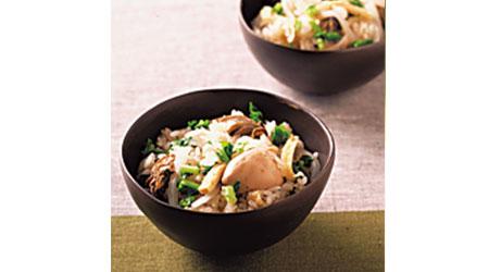 カキと大根の炊き込みご飯