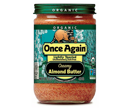 アーモンドバター,Once Again Organic Almond Butter Lightly Toasted Crunchy,