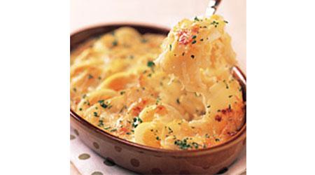 卵とじゃがいものチーズグラタン