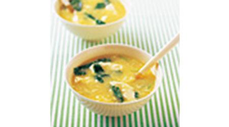豆腐とコーンのスープ