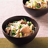 カキと大根の炊き込みご飯(207kcal)