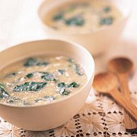 はすとほうれん草のかき卵スープ(102kcal)