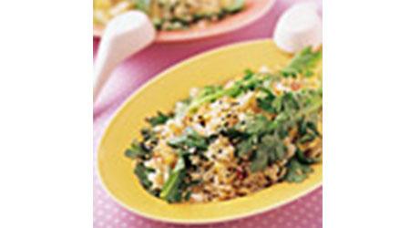 春菊とごまの炒飯