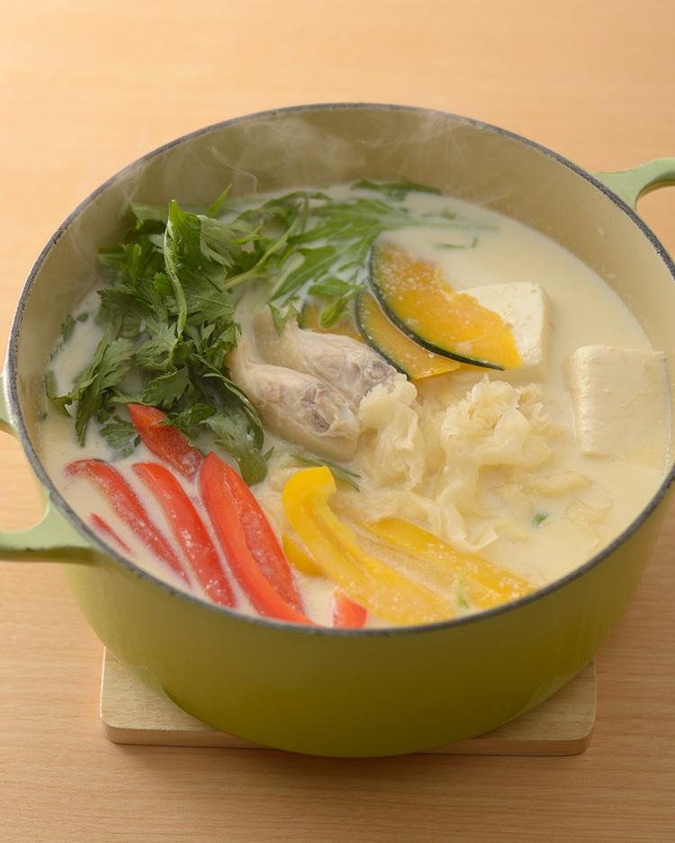 薬膳レシピ,美肌豆乳鍋