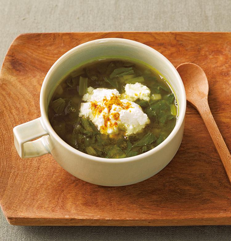 小松菜のカレースープ