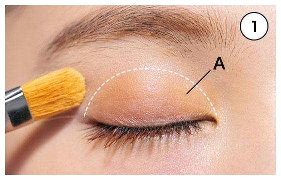 目玉の上には魅せ色オレンジ